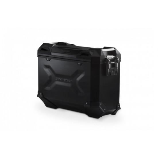 SWM TRAX EVO ALU-BOX 37L. LEFT AND RIGHT SET - BLACK